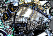 Grungy Carnival Abstract — Stock Photo