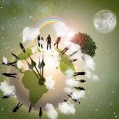 地球エコ — ストック写真