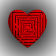 Stock Photo: Heart Maze