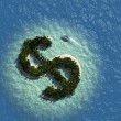 Dollar Sign Island — Stock Photo #34164629