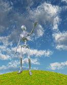 Shiny Silver Robot — Stock Photo