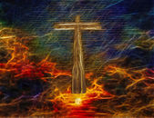 Cross in Sky — Stock Photo