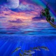 Under water tropics illustration — Stockfoto