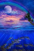 Under water tropics illustration — ストック写真