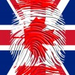 Stock Photo: CanadFingerprint on United Kingdom Flag