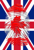 Canada Fingerprint on United Kingdom Flag — Stock Photo