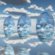 Stock Photo: Face Clouds