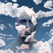 Head in Clouds — Stock Photo