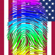Rainbow Pride Identity over US FLag — Stock Photo