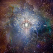 Eye and stars — Stock Photo