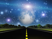 Road and space — Stock Photo