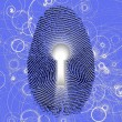 Stock Photo: Fingerprint lock