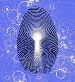 Fingerprint lock — Stock Photo