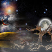 Mystical composition — Stockfoto
