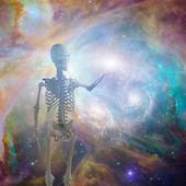 Skeleton in space — Foto de Stock