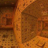 Futurystyczny korytarza — Zdjęcie stockowe