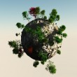 Planet with trees — Stock Photo