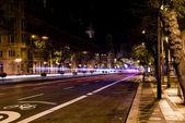 Bike street night — Stockfoto