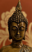 Bronze Buddha in Red — Stockfoto