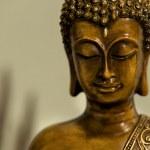 Бронзовая голова Будды — Стоковое фото