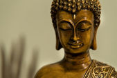 Bronze Buddha Head — Stock Photo