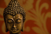 Buddha kopf rot — Stockfoto
