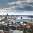 Royalty-Free Stock Photo: Madrid city skyline after the strom
