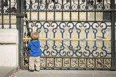 Royal Palace Madrid door — Stock Photo