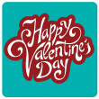 'happy valentine's day' hand lettering — Stock Vector #18300697