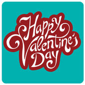 'happy valentine's day' hand lettering — Stock Vector