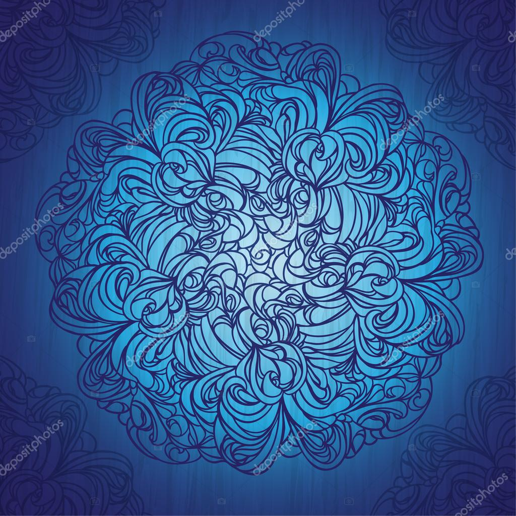 Ornamental round lace pattern on grunge background. EPS10.  Stock Vector #18409827