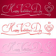&#039;happy valentine&#039;s day&#039; banner - Stock Vector