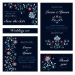 Invitation card set in original 'night' style. — Stock Vector