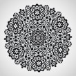 Ornamental round lace pattern — 图库矢量图片