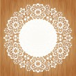 Ornamental round lace pattern — Vector de stock  #26452973