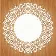 Stock Vector: Ornamental round lace pattern