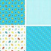 Conjunto de padrões geométricos abstratos, com elementos de mão desenhada. — Vetorial Stock