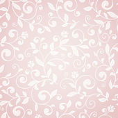 Pink floral pattern. — Stock Vector