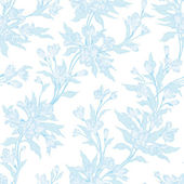 Blue vintage floral pattern. — Stock Vector