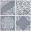 Seamless lace pattern, round and corner decor. — Stock Vector