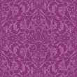 Ornamental seamless lace pattern, in radiant orchid colors — Stock Vector