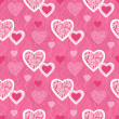 Seamless pattern with decorative hearts — Stock Vector