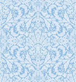 Seamless background baroque pattern, in delicate winter colors — Stock Vector
