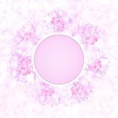 Carta di nozze o un invito con astratto sfondo floreale — Vettoriale Stock