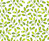 Watercolor leaves pattern — Stock Photo
