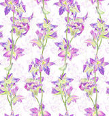 Seamless pattern with decorative flowers — Stock Photo
