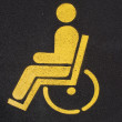 Road markings. Parking for disabled — Stock Photo
