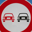 Road signs. No overtaking — Foto de Stock