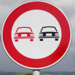 Road signs. No overtaking — Stock Photo #16914563