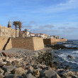 Sardinia. Alghero. View of Old Fortified Town — Stock Photo